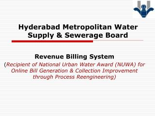 Hyderabad Metropolitan Water Supply & Sewerage Board
