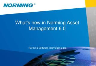 What's new in Norming Asset Management 6.0