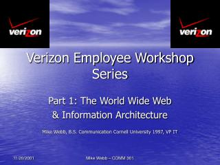 Verizon Employee Workshop Series