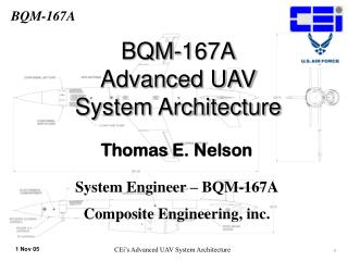 BQM-167A Advanced UAV  System Architecture