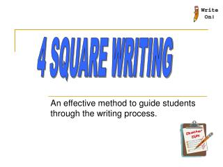 An effective method to guide students through the writing process.
