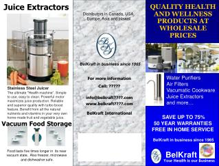 QUALITY HEALTH  AND WELLNESS PRODUCTS AT WHOLESALE PRICES