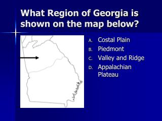 What Region of Georgia is shown on the map below?