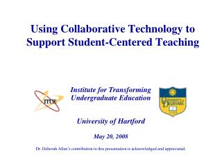 Using Collaborative Technology to Support Student-Centered Teaching