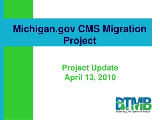 Michigan.gov CMS Migration Project