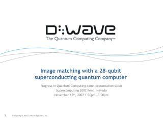Image matching with a 28-qubit superconducting quantum computer