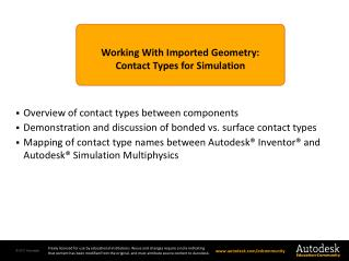 Working With Imported Geometry: Contact Types for Simulation