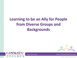 Learning to be an Ally for People from Diverse Groups and Backgrounds