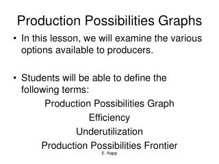 Production Possibilities Graphs