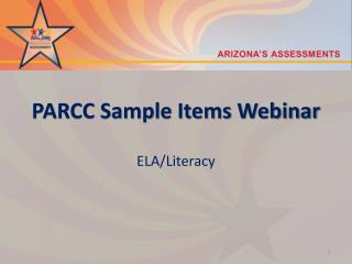 PARCC Sample Items Webinar