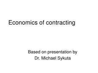Economics of contracting