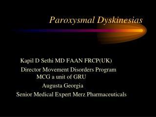 Paroxysmal Dyskinesias
