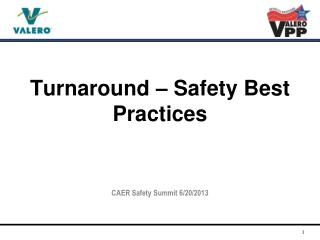 Turnaround – Safety Best Practices