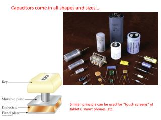 Capacitors come in all shapes and sizes….