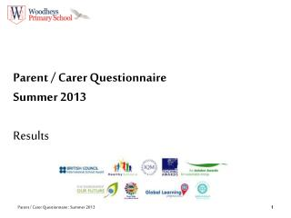 Parent / Carer Questionnaire Summer  2013 Results