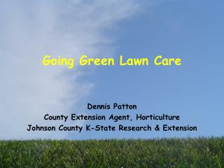 Going Green Lawn Care