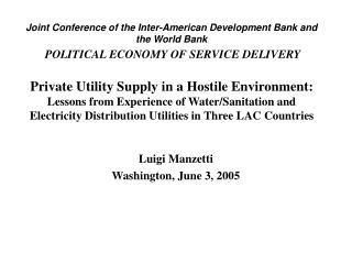 Luigi Manzetti Washington, June 3, 2005