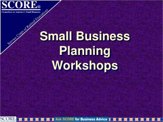 Small Business Planning  Workshops