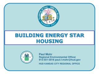 BUILDING ENERGY STAR HOUSING