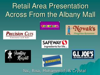 Retail Area Presentation Across From the Albany Mall