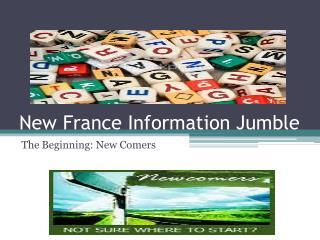 New France Information Jumble