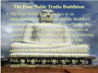 The Four Noble Truths Buddhism