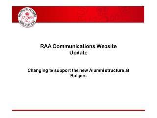RAA Communications Website Update