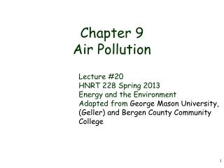Chapter 9 Air Pollution