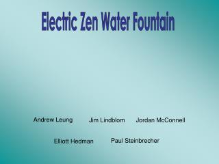 Electric Zen Water Fountain