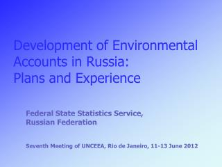 Federal State Statistics Service, Russian Federation