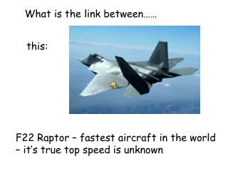 F22 Raptor – fastest aircraft in the world – it's true top speed is unknown