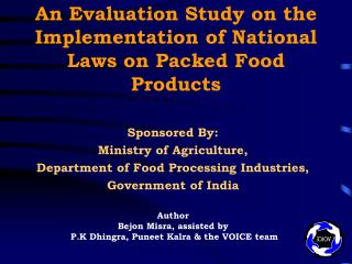 An Evaluation Study on the Implementation of National Laws on Packed Food Products