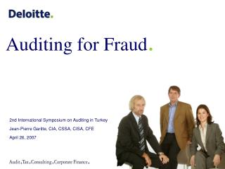 Auditing for Fraud .