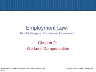 Chapter 21 Workers' Compensation