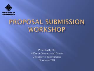 Proposal submission workshop