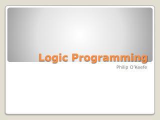 Logic Programming