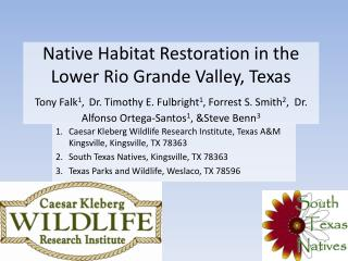 Native Habitat Restoration in the Lower Rio Grande Valley