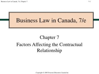 Business Law in Canada, 7/e