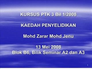 KURSUS PTK 3 Bil 1