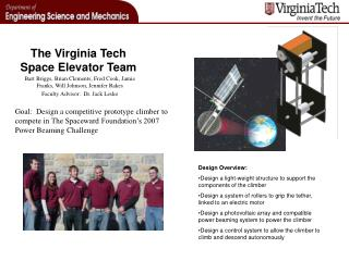 The Virginia Tech Space Elevator Team