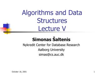 Algorithms and Data Structures Lecture V