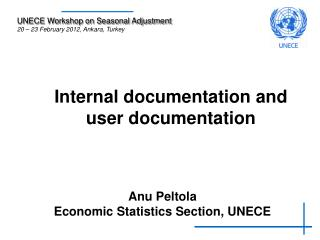 Internal documentation and user documentation