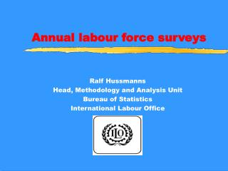 Annual labour force surveys