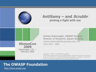 AntiSamy  – and  Scrubbr picking a fight with  xss