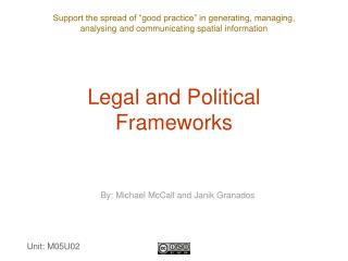 Legal and Political Frameworks