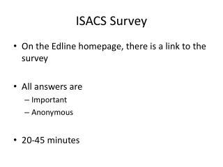 ISACS Survey