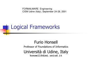 Logical Frameworks