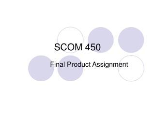 SCOM 450