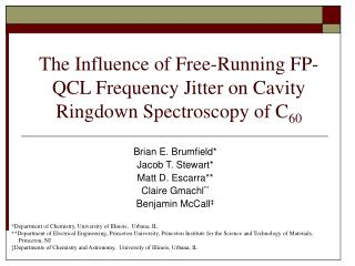 The Influence of Free-Running FP-QCL Frequency Jitter on Cavity Ringdown Spectroscopy of C 60