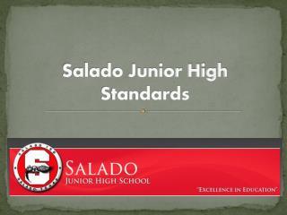 Salado Junior High Standards